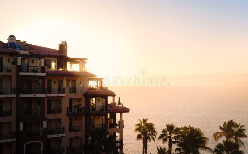 Vista da un hotel in Cabo San Lucas fotografie stock