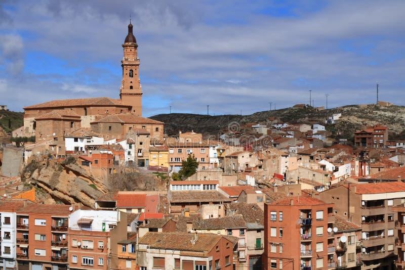 Vista da vila de Autol na província de La Rioja, Espanha imagens de stock royalty free