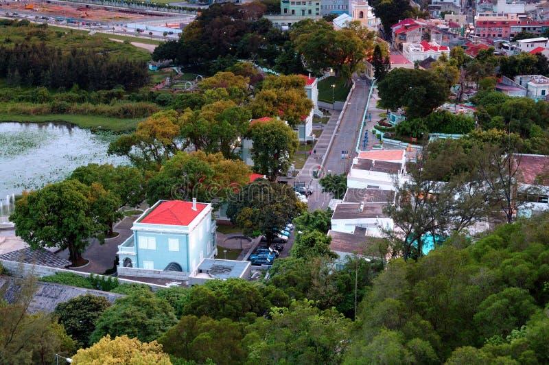 Vista da vila de Taipa, Macau fotografia de stock royalty free