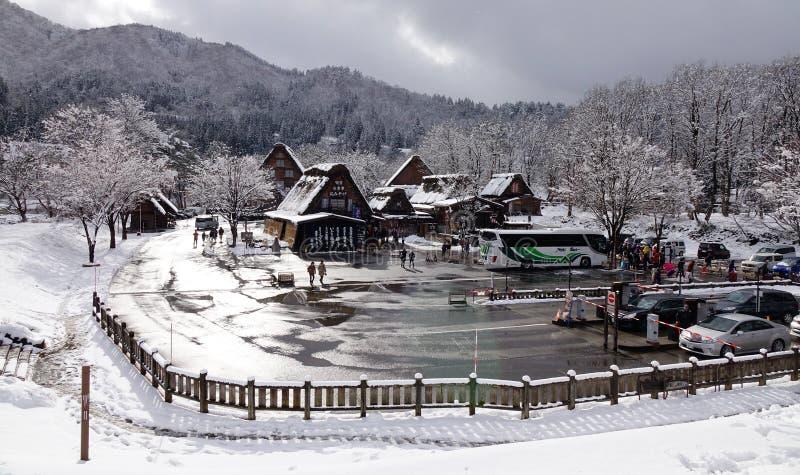Vista da vila velha em Takayama, Japão foto de stock