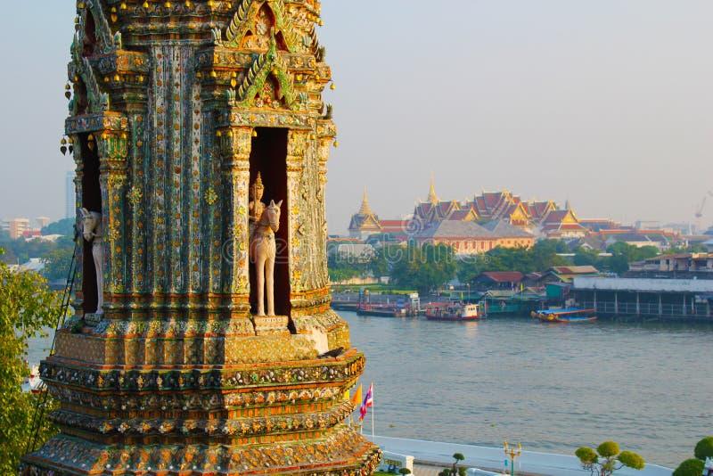 Vista da Wat Arun fotografia stock