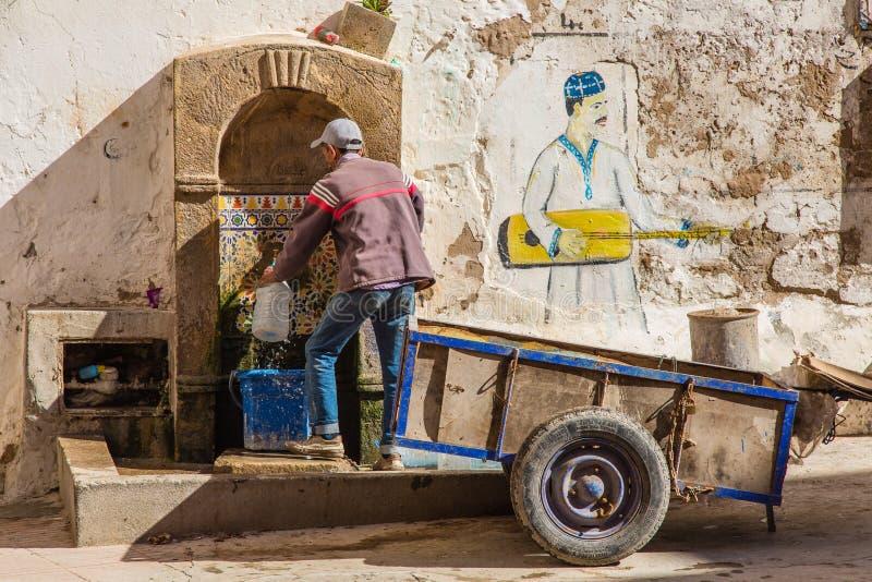 Vista dai vicoli di Essaouira fotografie stock