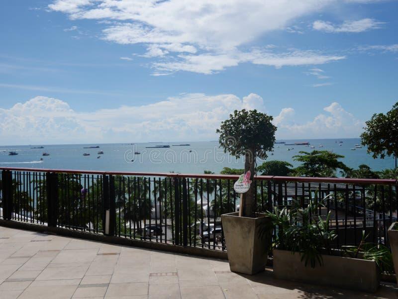 Vista dal balcone fotografia stock