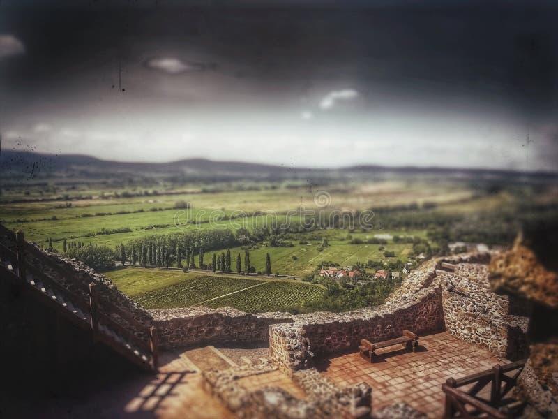 Vista dal castello fotografia stock