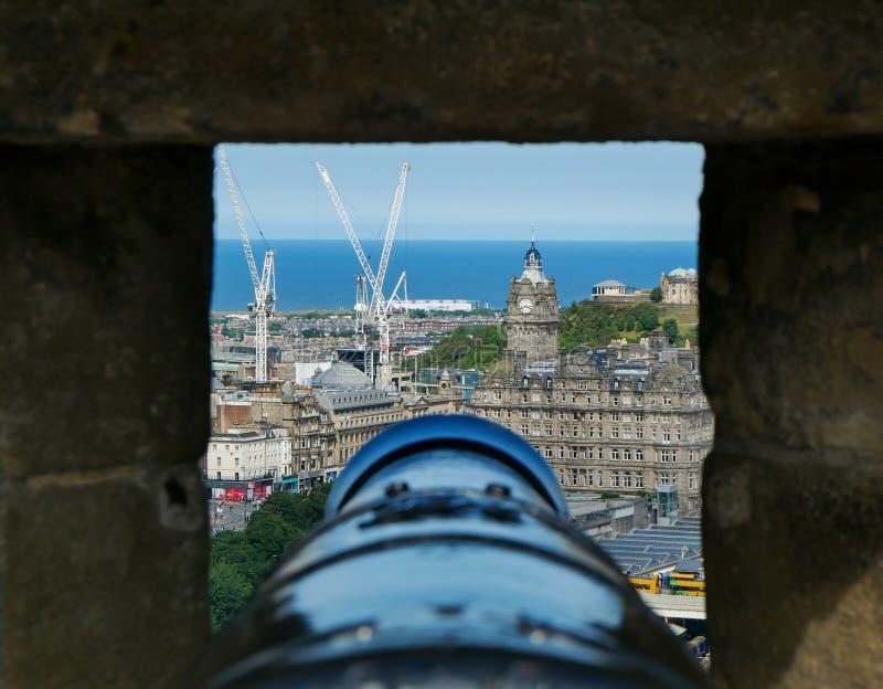 Vista dal castello di Edinburgh fotografia stock libera da diritti