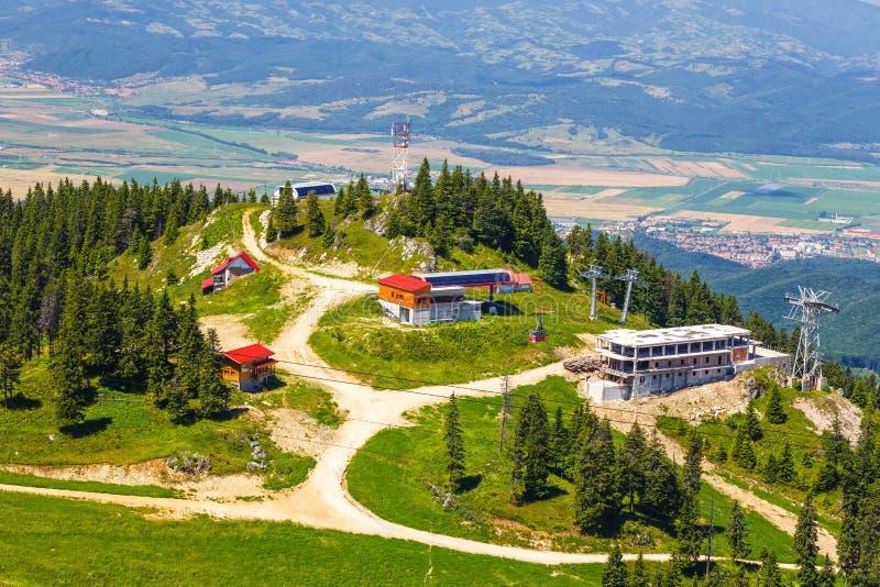 Vista dal massiccio di Postavarul, Romania fotografie stock