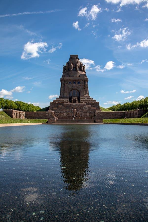Vista dal monumento alla battaglia delle nazioni in Lipsia Germania fotografia stock libera da diritti