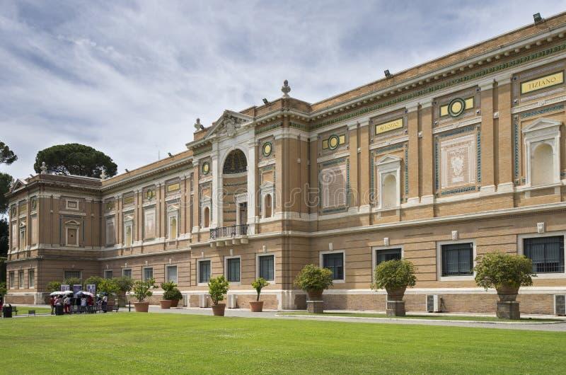 Vista dal museo turistico di fama mondiale del Vaticano del posto cristiano immagine stock libera da diritti