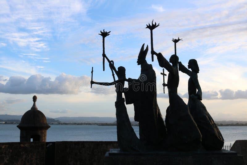 Vista dal porto a San Juan, Puerto Rico fotografia stock
