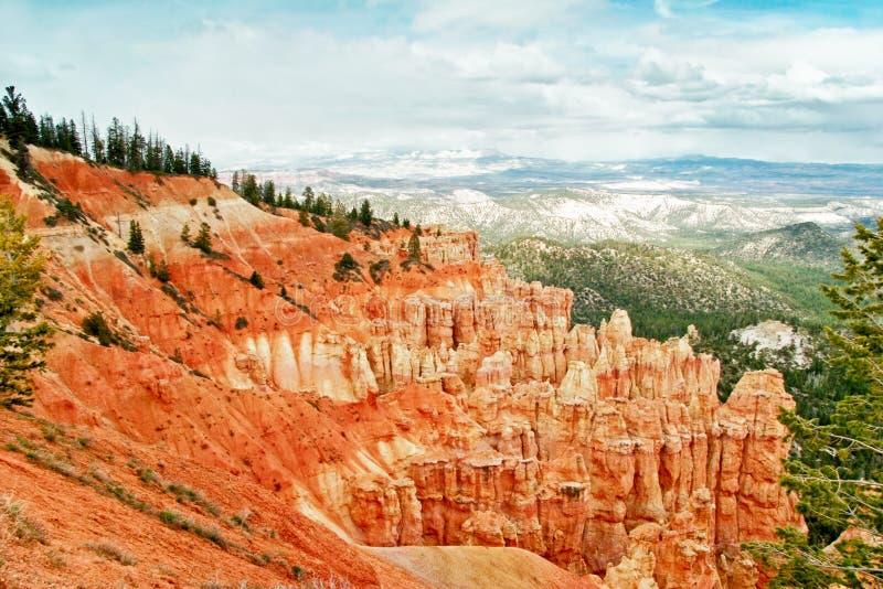 Vista dal punto di vista del canyon di Bryce fotografie stock