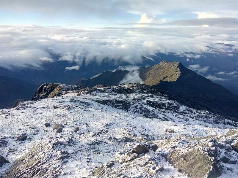 Vista dal retro del pico espejo Venezuela fotografia stock