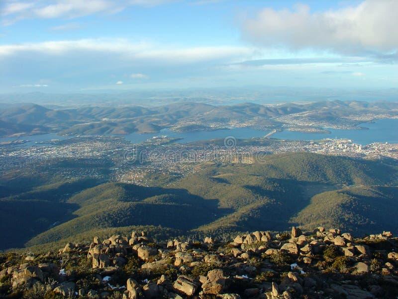 Vista dal supporto Wellington, Tasmania, Australia fotografia stock libera da diritti