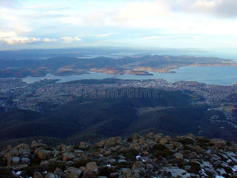 Vista dal supporto Wellington, Tasmania, Australia fotografia stock