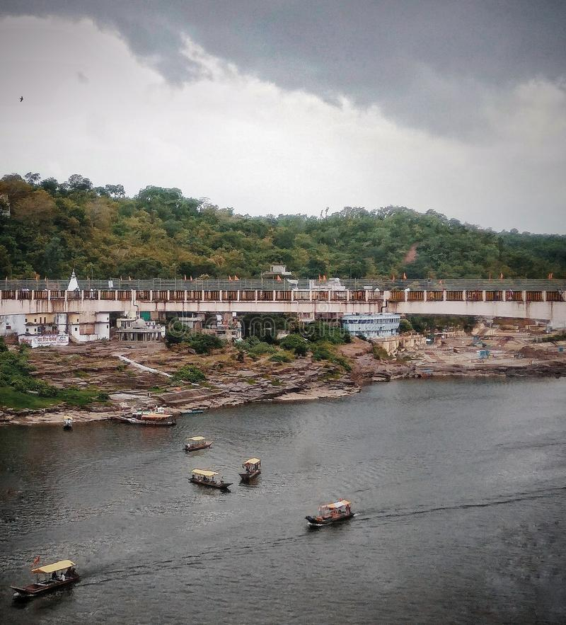 Vista dal tempio mahakaleshwar immagini stock