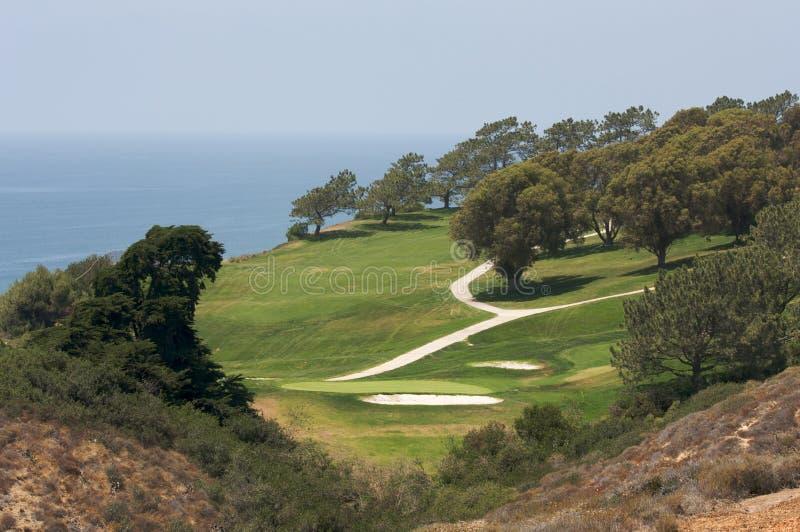 Vista dal terreno da golf dei pini di Torrey fotografia stock