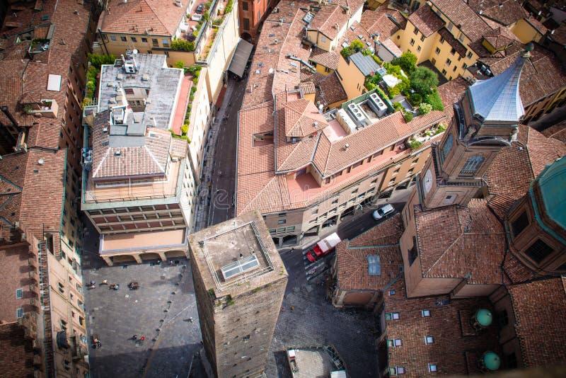 Vista dal Torre Degli Asinelli a Bologna, Emilia Romagna, Italia fotografie stock libere da diritti