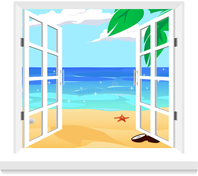 Vista dal vettore della finestra royalty illustrazione gratis