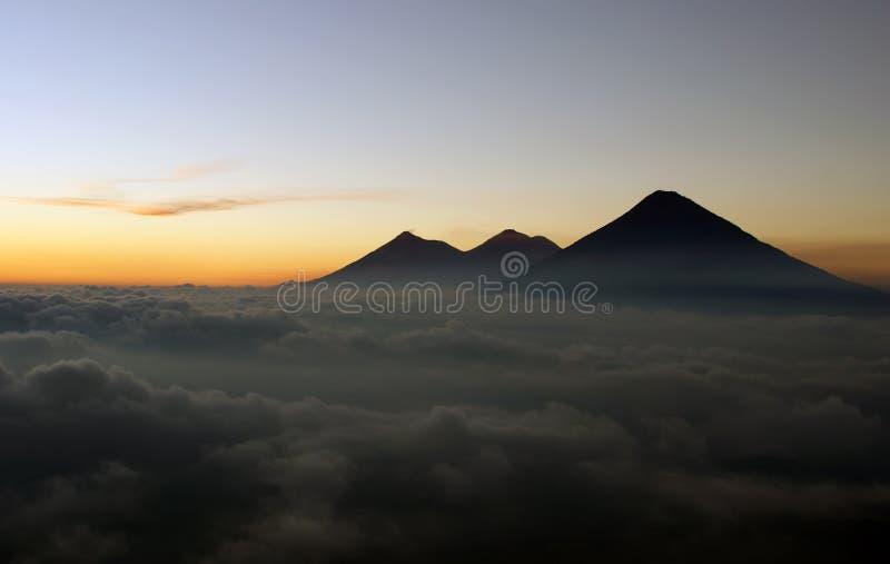 Vista dal vulcano di Pacaya fotografia stock libera da diritti