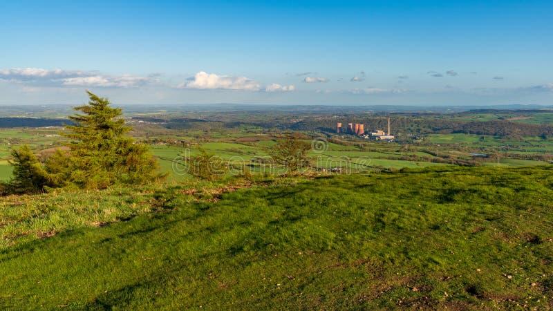 Vista dal Wrekin, Shropshire, Inghilterra, Regno Unito fotografia stock libera da diritti