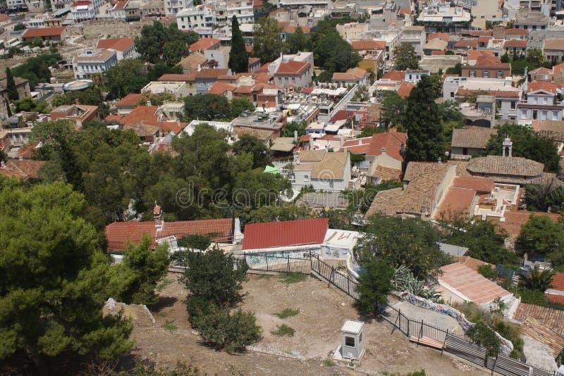 Vista dall'acropoli immagini stock libere da diritti