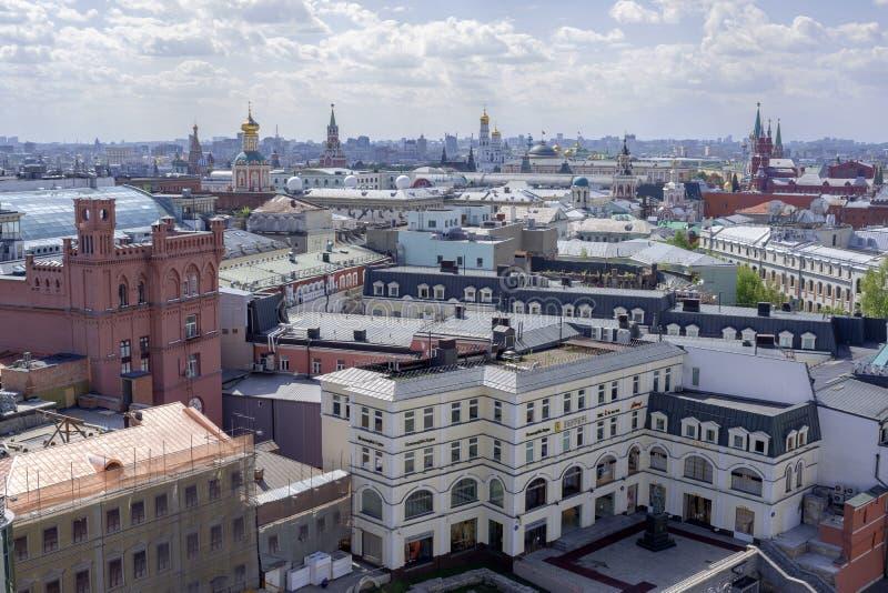 Vista dall'altezza della città di Mosca fotografia stock
