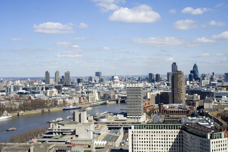 Vista dall'occhio di Londra fotografie stock
