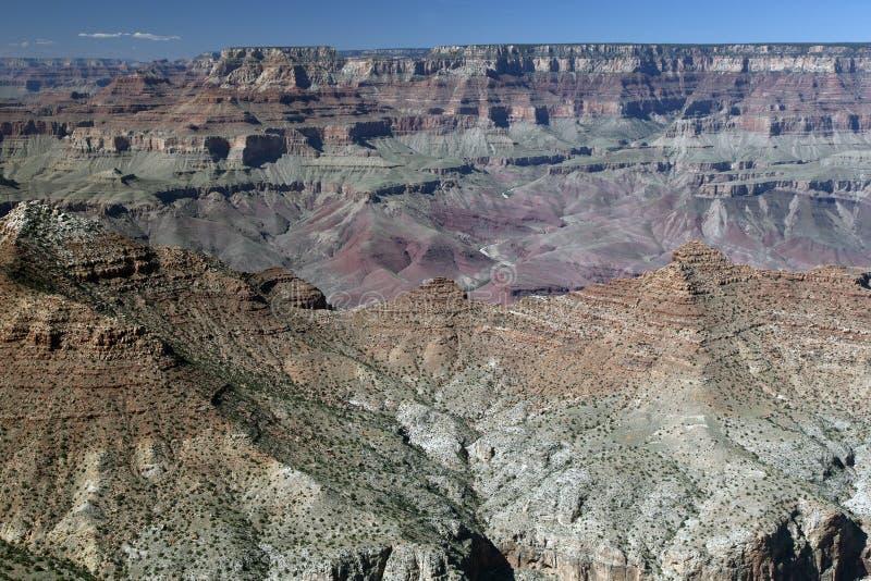 Vista dall'orlo del sud di grande canyon fotografia stock