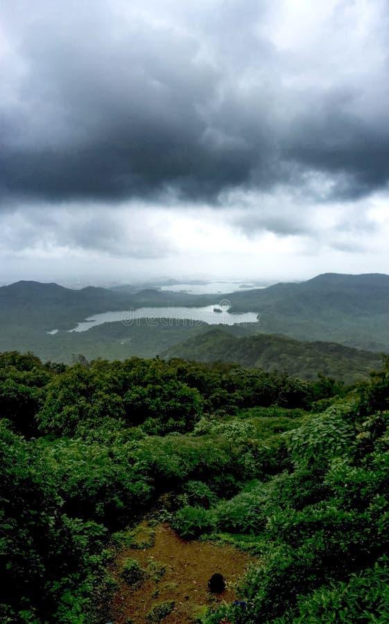 Vista dall'più alto punto in Mumbai immagine stock libera da diritti