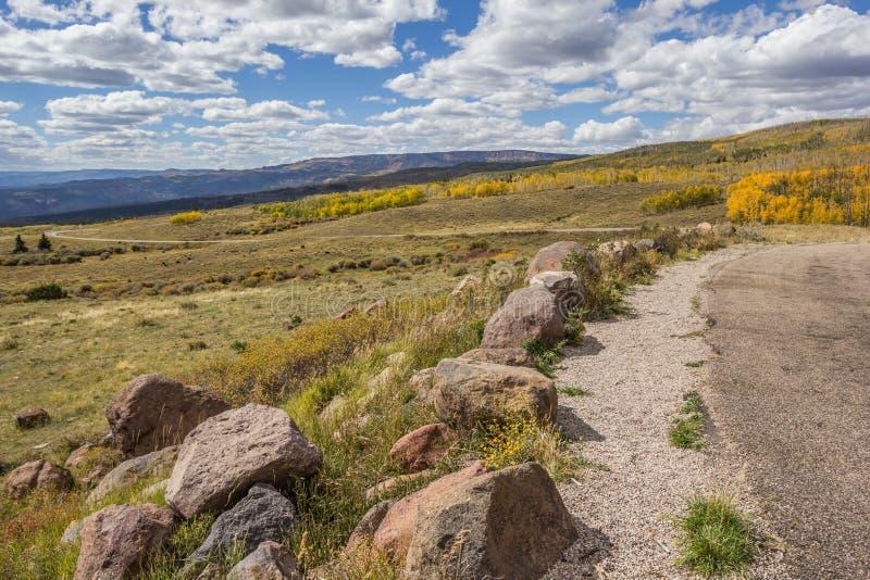Vista dalla cima della montagna di Boulder nell'Utah immagine stock