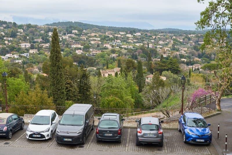 Vista dalla collina in Francia fotografia stock libera da diritti