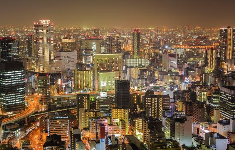 Vista dalla costruzione del cielo di Umeda, Osaka, Giappone immagine stock libera da diritti