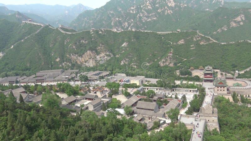 Vista dalla grande muraglia della Cina immagine stock