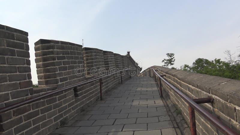 Vista dalla grande muraglia della Cina fotografia stock libera da diritti