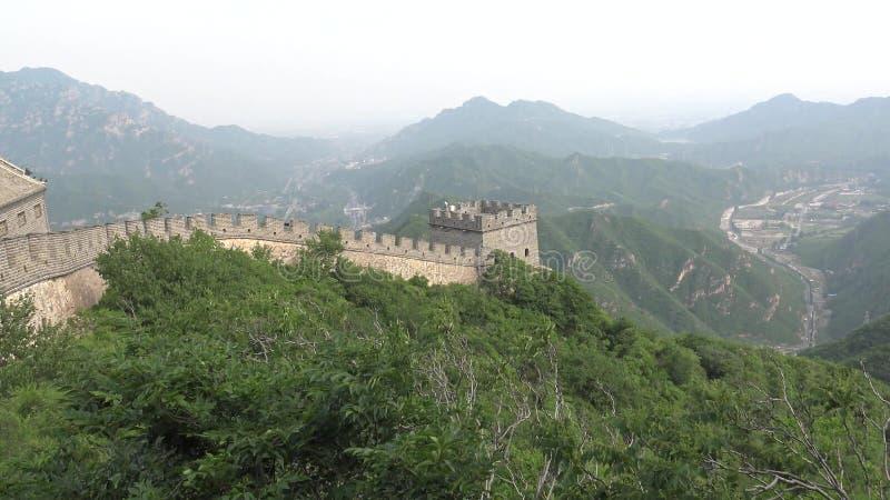 Vista dalla grande muraglia della Cina immagini stock