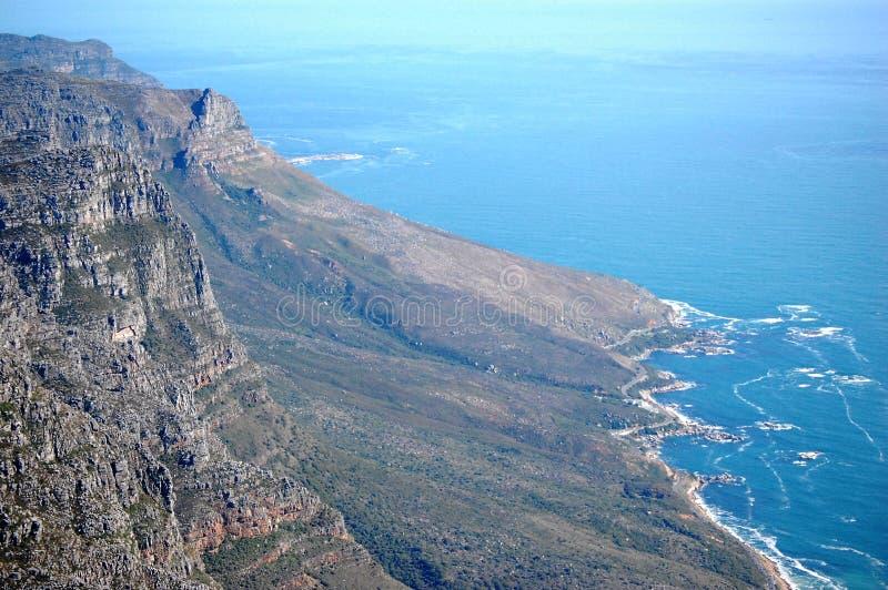 Vista dalla montagna della Tabella, Sudafrica, Cape Town immagine stock