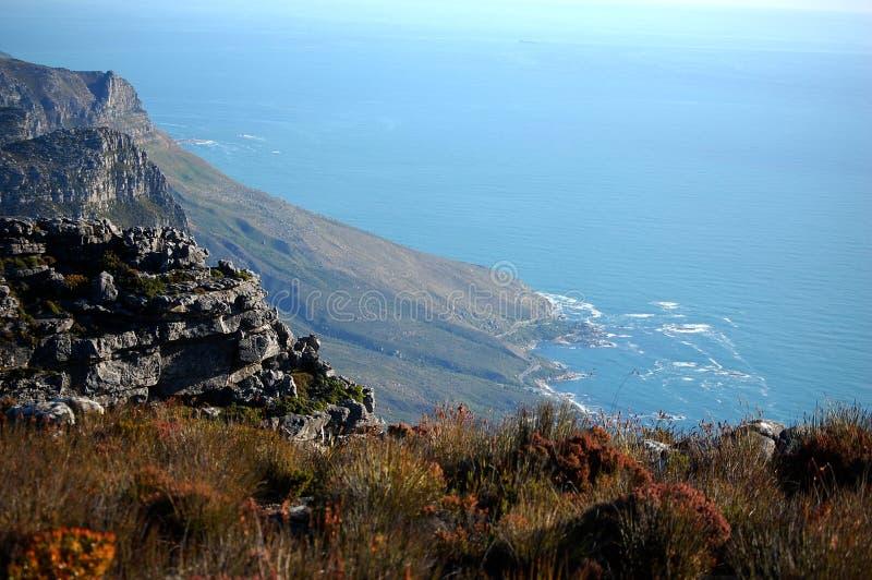 Vista dalla montagna della Tabella, Sudafrica, Cape Town immagini stock