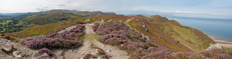 Vista dalla montagna di Conwy immagine stock