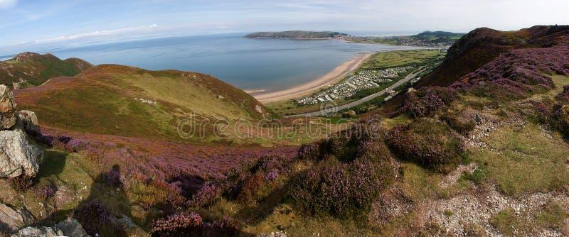 Vista dalla montagna di Conwy fotografia stock