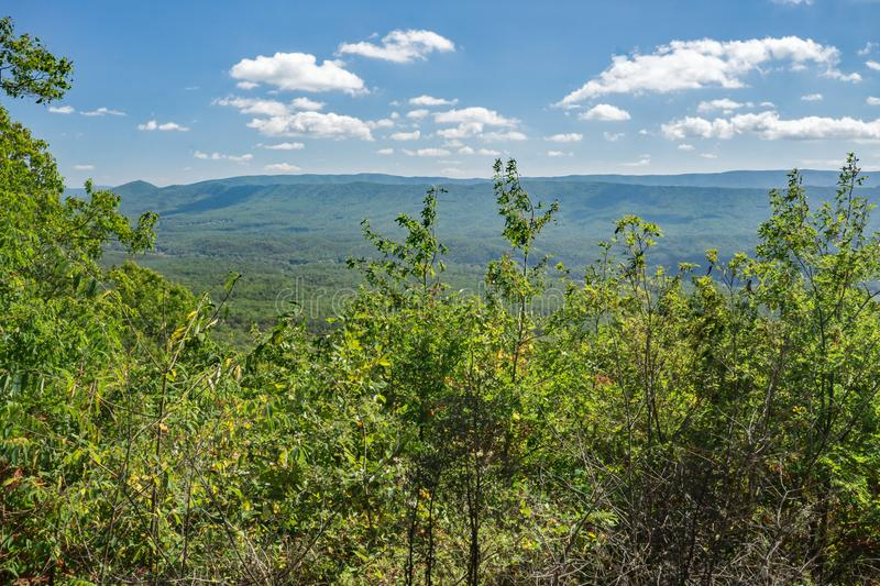 Vista dalla montagna di Potts, la Virginia, U.S.A. immagine stock