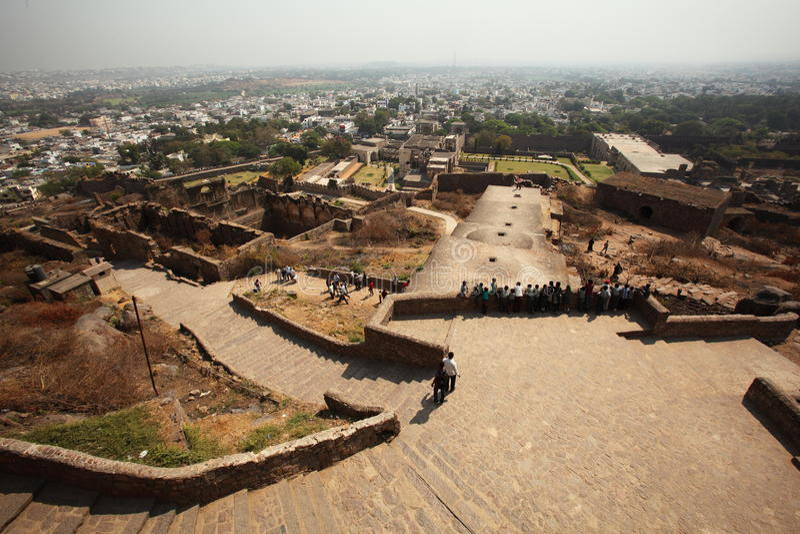 Vista dalla parte superiore della fortificazione di Golconda, Haidarabad