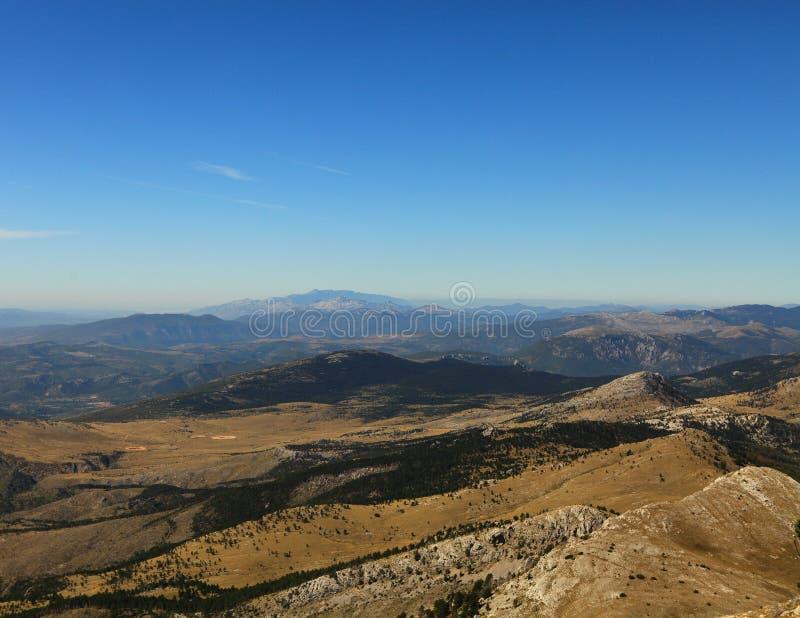 Vista dalla parte superiore di Dinara (Croatia) fotografie stock