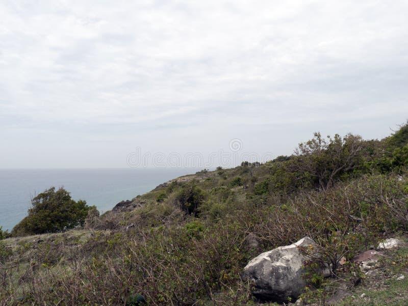 Vista dalla st Eustatius/Statia fotografia stock
