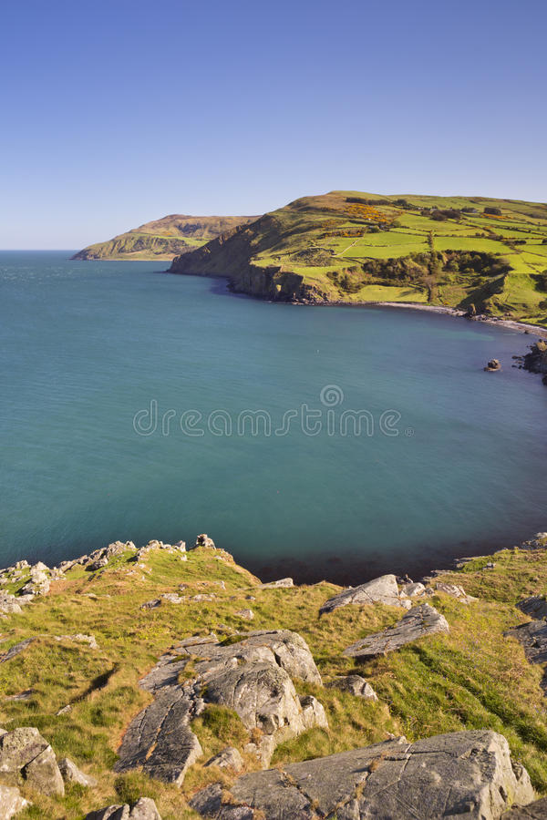 Vista dalla testa dei torr in Irlanda del Nord fotografie stock libere da diritti