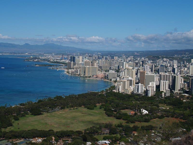 Vista dalla testa del diamante in Hawai immagini stock
