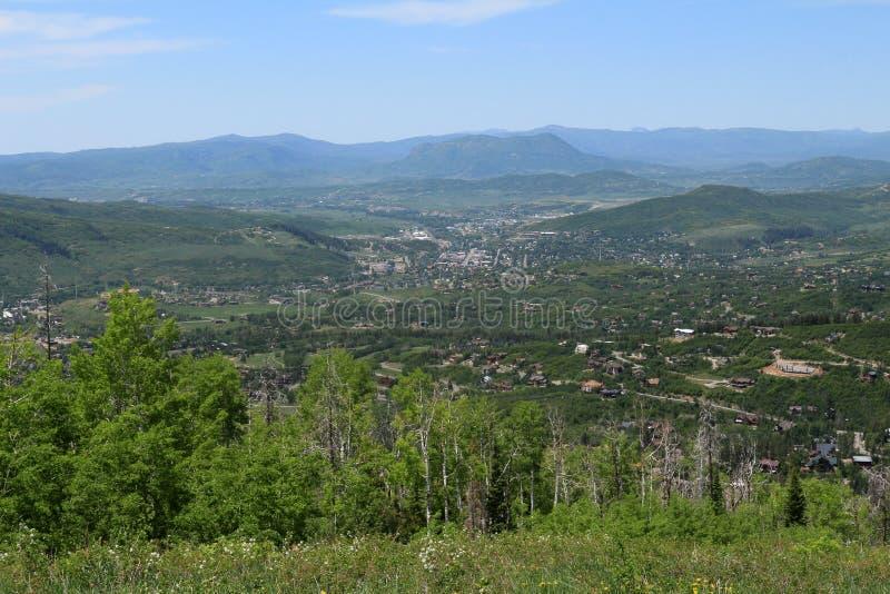 Vista dalla traccia di Thunderhead, Steamboat Springs, Colorado immagine stock libera da diritti