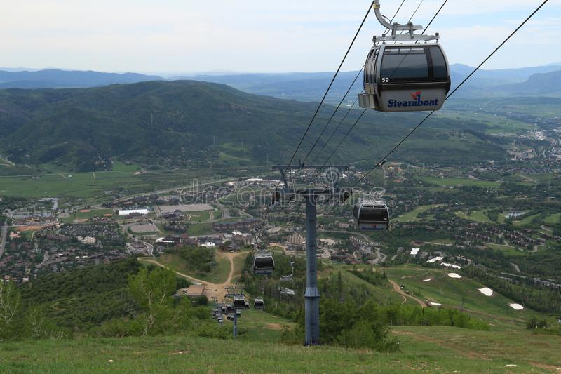Vista dalla traccia di Thunderhead, Steamboat Springs, Colorado fotografie stock