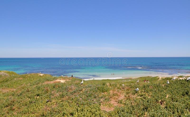 Vista dalle dune fotografia stock libera da diritti