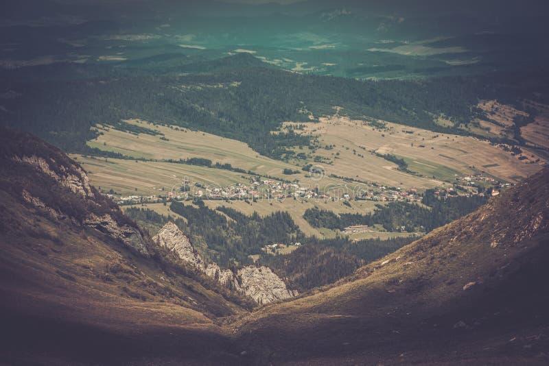 Vista dalle montagne di Tatras fotografia stock libera da diritti