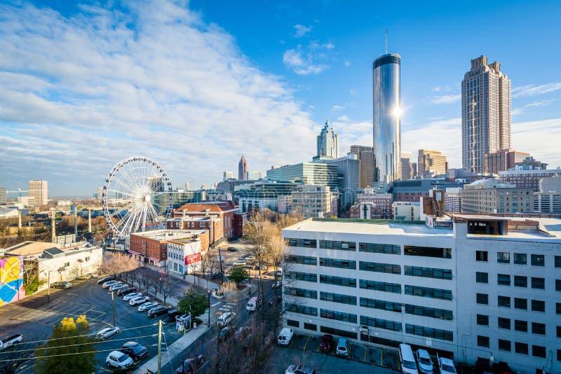 Vista das constru??es em Atlanta do centro, Ge?rgia fotografia de stock royalty free