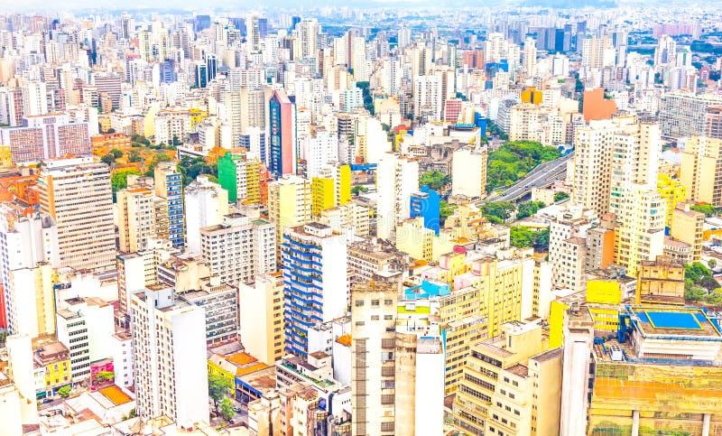 Vista das construções em Sao Paulo imagens de stock royalty free